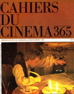 Front cover of Cahiers du Cinema - Nov 1984