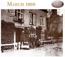 32 Cardington Road (formerley the Abbey Hotel) get their pints during the floods of 1947