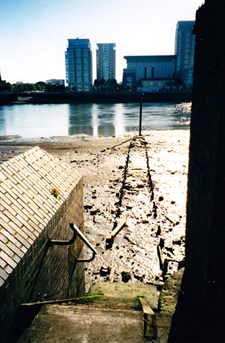 Horn Stairs, Rotherhithe looking across to the Limehouse Basin