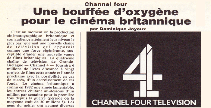 Headline from Cahiers du Cinema Decembre 1982