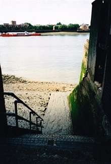 Wapping Old Stairs by the Town of Ramsgate. Deported convicts last touch of land before being transported to Australia