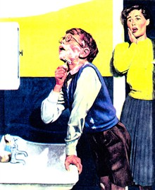 First shave - a picture from a 1950s magazine